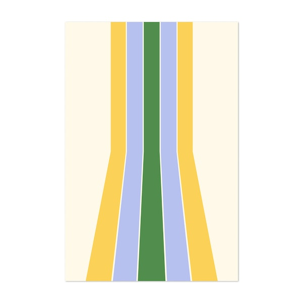 Retro Stripes - Summer by Colour Poems