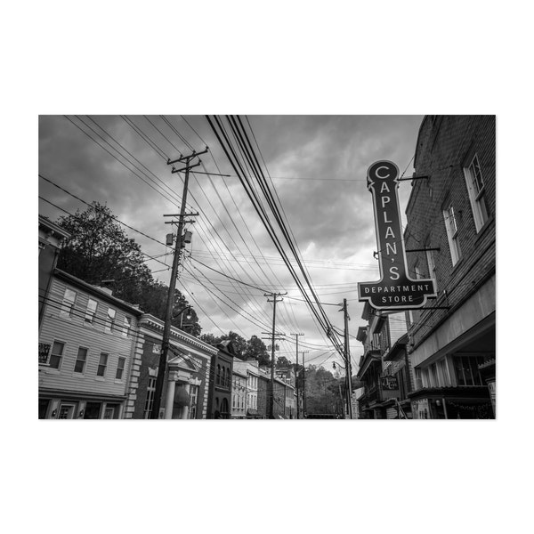 Shop Main Street B&W by Jon Bilous