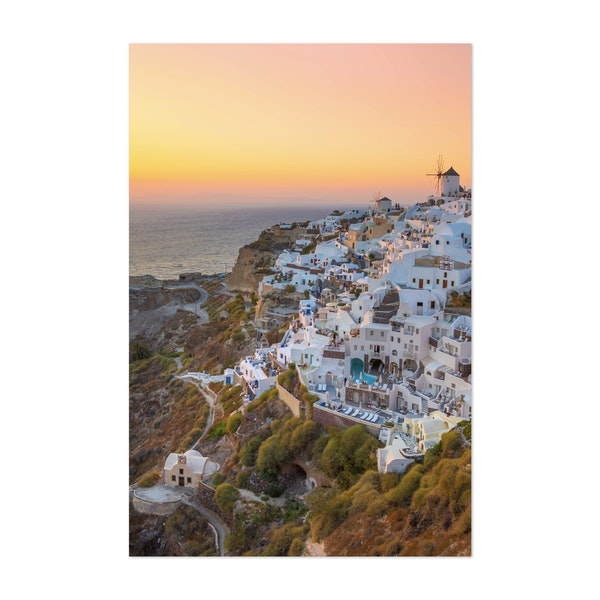 Sunsets in Santorini by Harry Sinclair