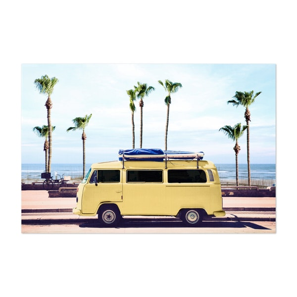 Surfer's Yellow Van by Gal Design