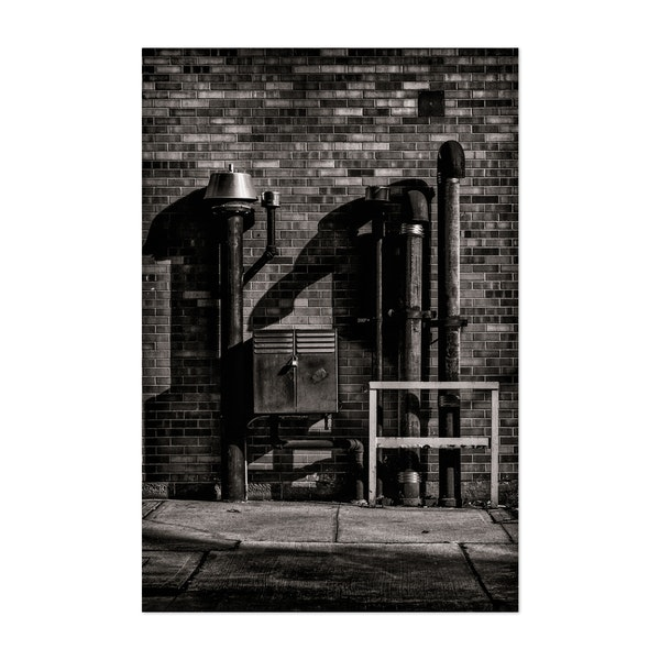 Alleyway Pipes No 3 by Brian Carson