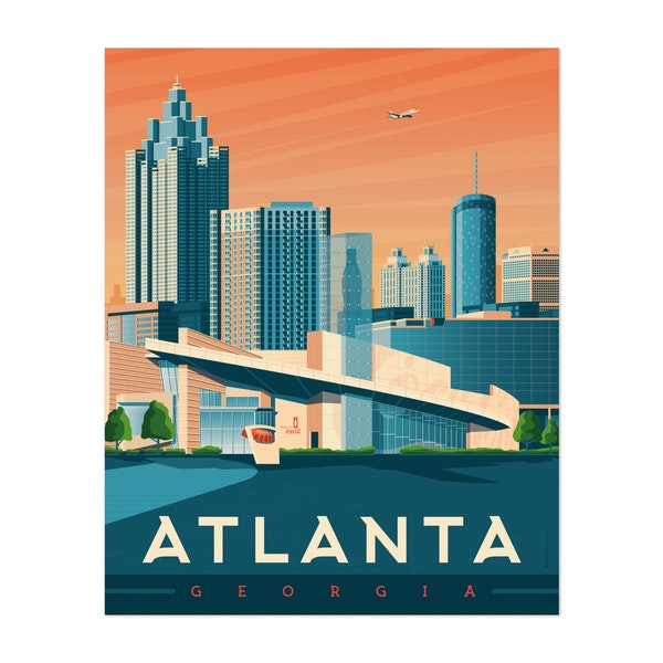ATLANTA Travel Poster by Francois Beutier / Olahoop Travel Posters