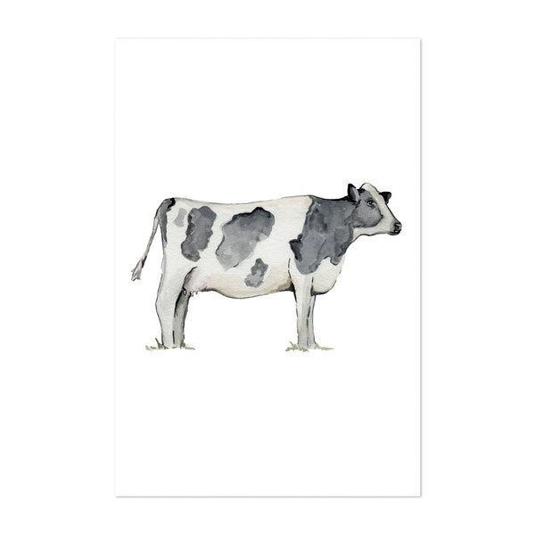 Black and White Cow by The Cranberry Finch