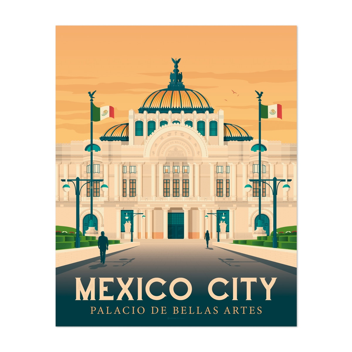 MEXICO CITY Travel Poster