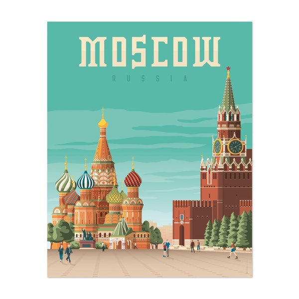 MOSCOW Travel Poster by Francois Beutier / Olahoop Travel Posters
