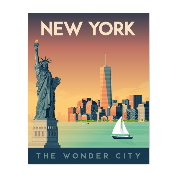 NEW YORK Travel Poster by Francois Beutier / Olahoop Travel Posters