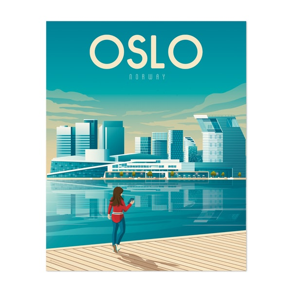 OSLO Travel Poster by Francois Beutier / Olahoop Travel Posters