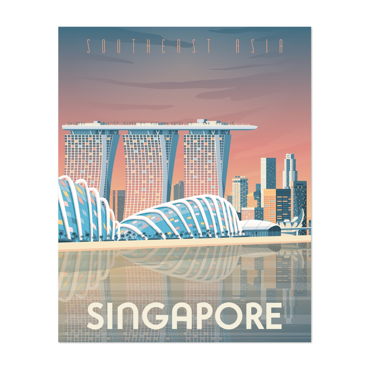 SINGAPORE Travel Poster
