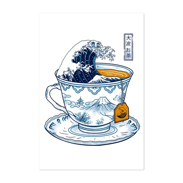 The Great Kanagawa Tea by Vincent Trinidad