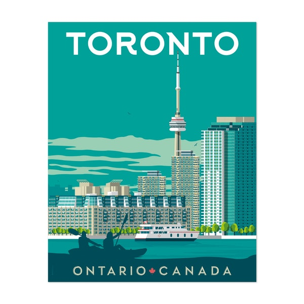 TORONTO Travel Poster by Francois Beutier / Olahoop Travel Posters