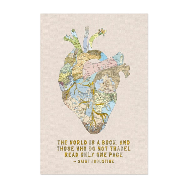 A Traveler's Heart + Quote by Bianca Green
