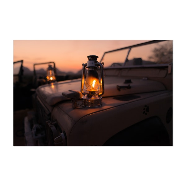 Candle Lamps on Vintage Trucks by Kyle Miller