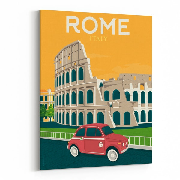 ROME Travel Poster by Francois Beutier / Olahoop Travel Posters