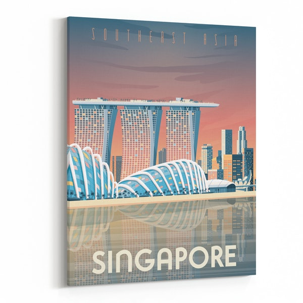 SINGAPORE Travel Poster by Francois Beutier / Olahoop Travel Posters