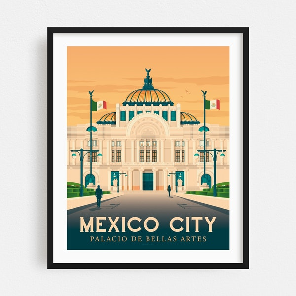 MEXICO CITY Travel Poster by Francois Beutier / Olahoop Travel Posters