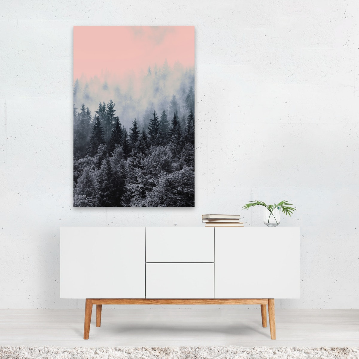 FOREST IN GRAY AND PINK