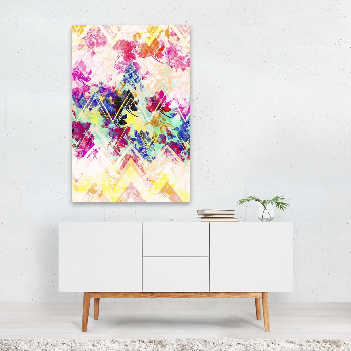SPRING FLORAL WITH GEOMETRIC