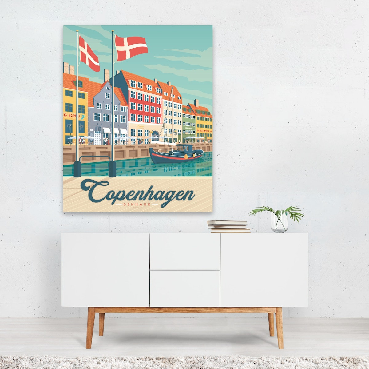 COPENHAGEN Travel Poster by Francesco Di Beutierio ?
