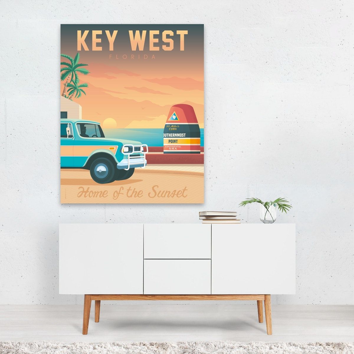 Key West Home Of The Sunset Travel Poster
