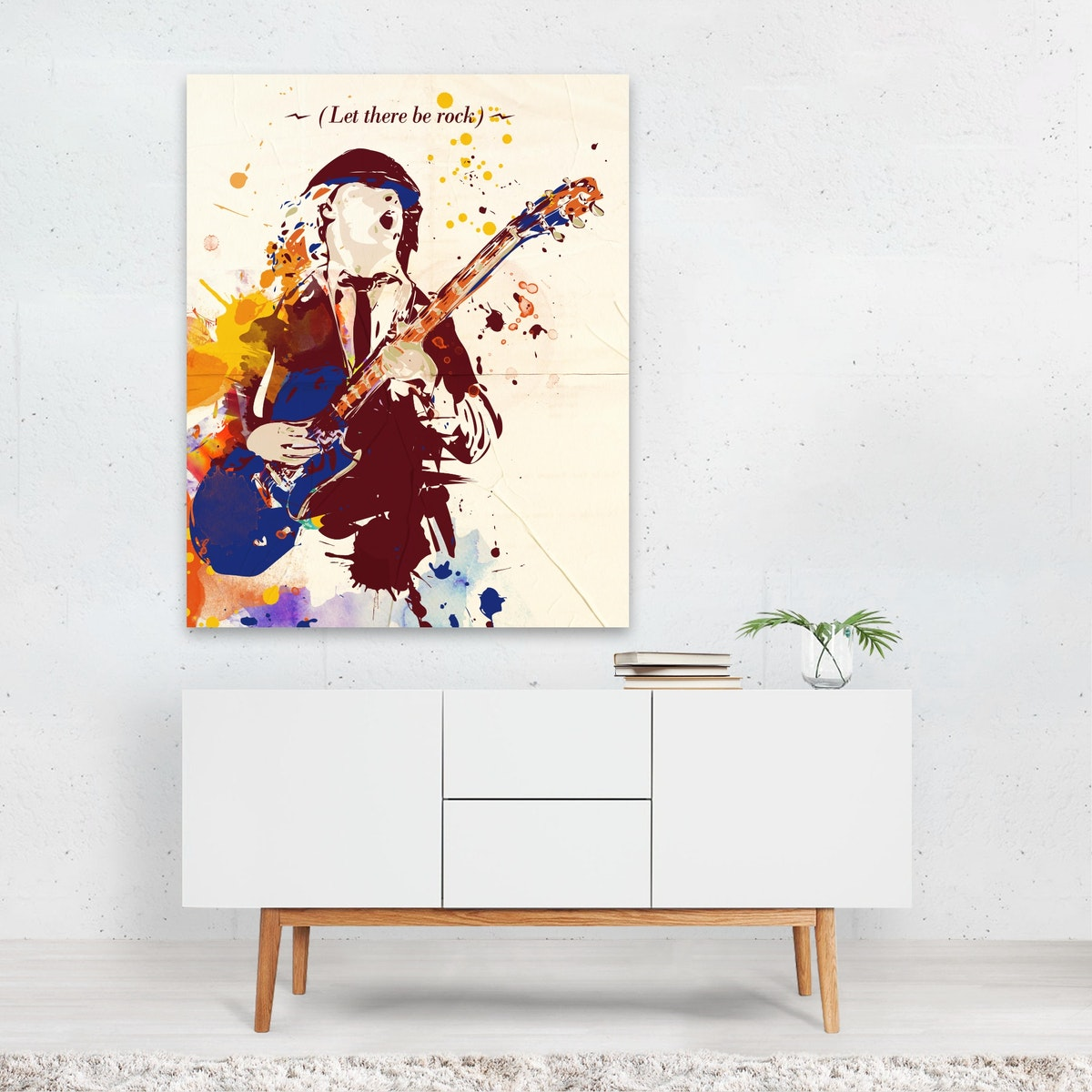 Acdc Angus Young pop art style print