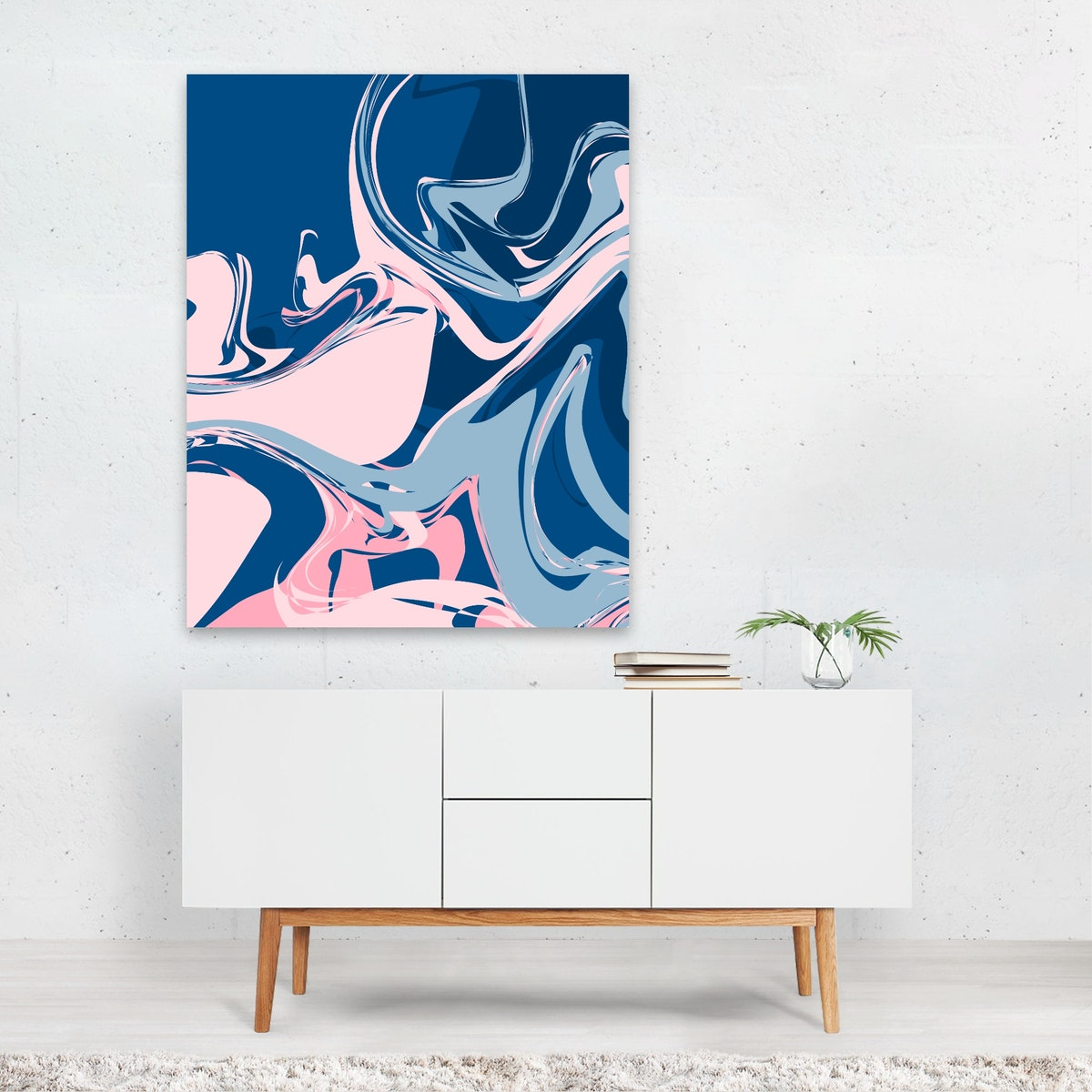 Marble Blue & Pink