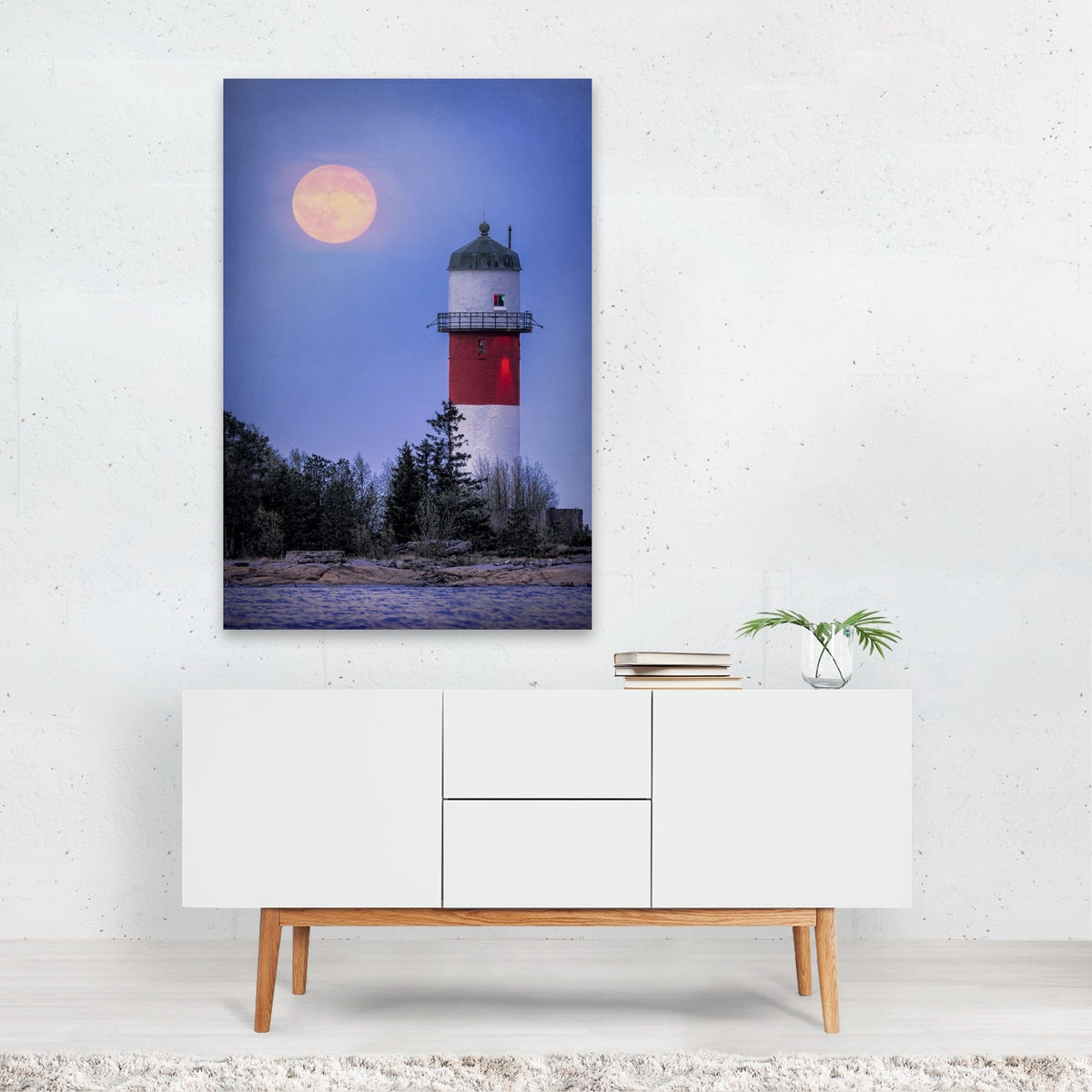 The Moon and the Lighthouse