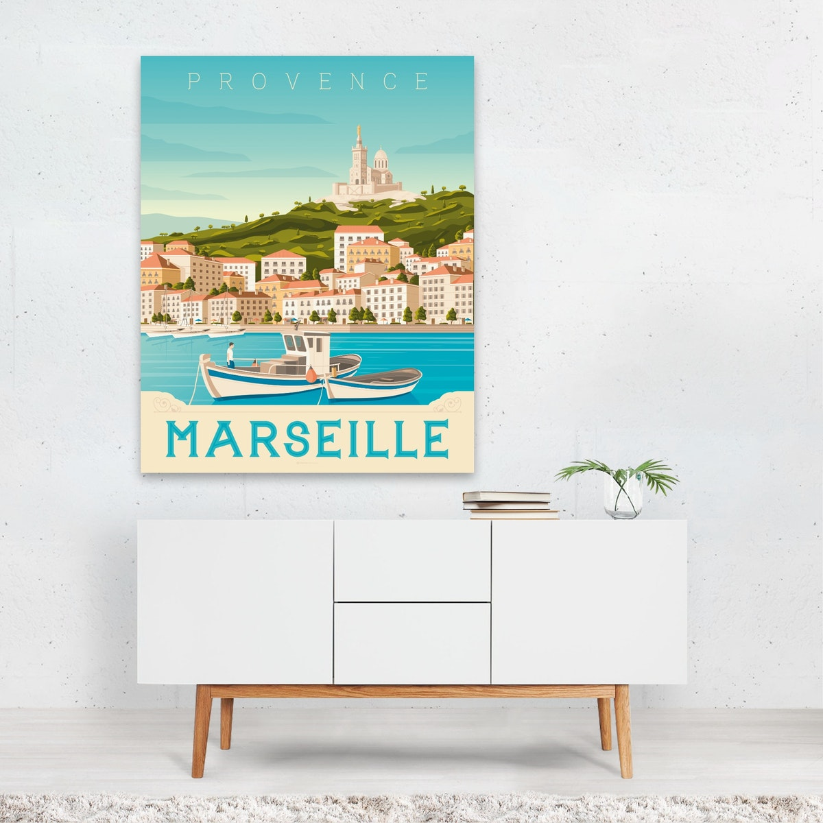 MARSEILLE Travel Poster